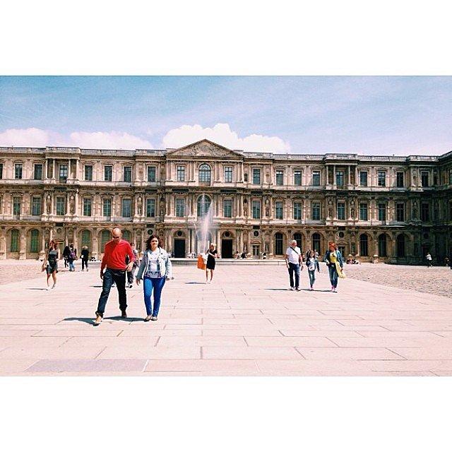 Cour carrée du Louvre #louvre #paris #cour