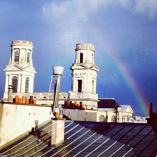 Rainbow overdose the rooftops of Paris #paris #rainbow #saintsulpice
