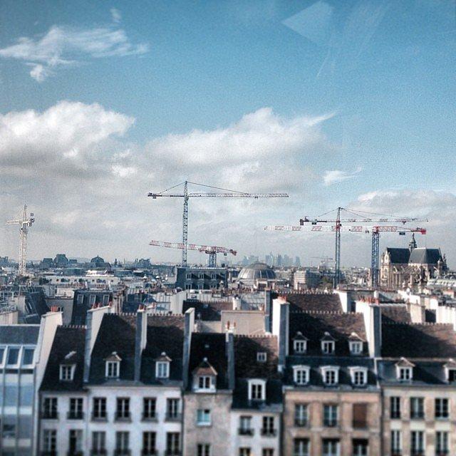 Cigogne moderne #grue #paris