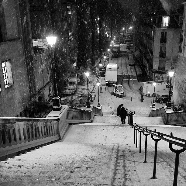 Let it snow #paris #snow #neige