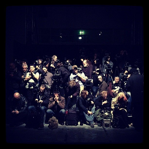 Say cheese - photographers at Rick Owens #pfw